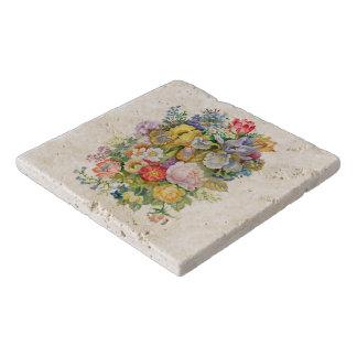 Flower Bouquet Marble Stone Trivets