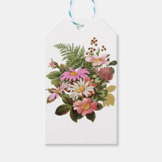flower bouquet pack of gift tags