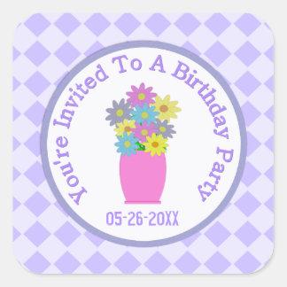 Flower Bouquet: Save The Date Sticker