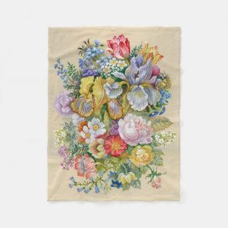 Flower Bouquet Small Fleece Blanket