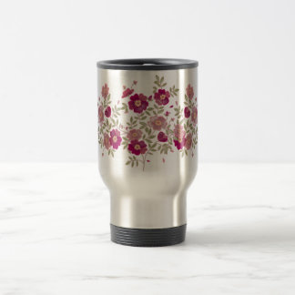 Flower Bouquet Stainless Steel Safety Mug