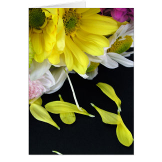 Flower Bouquet with loose petals (Card) Card