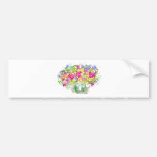 Flower Bowl Car Bumper Sticker