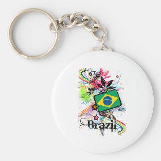 Flower Brazil Keychain
