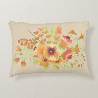 """flower Brushed Polyester Accent Pillow 16"""" x 12"""""""