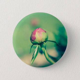 flower bud crossprocessbulb 2 inch round button