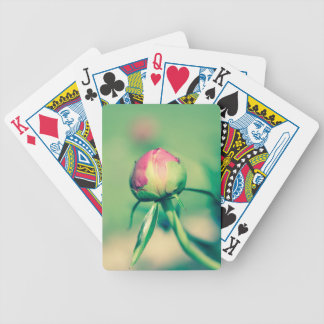flower bud crossprocessbulb bicycle playing cards