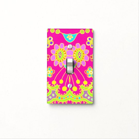 Flower Bug Girly Pink Light Switch Cover