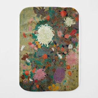 flower burp cloth