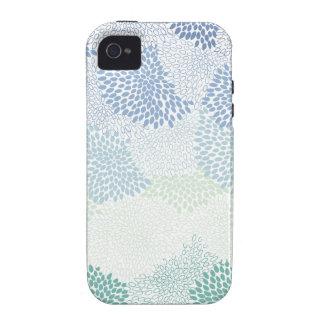 """Flower Burst"" Blue iPhone 4/4S Case"