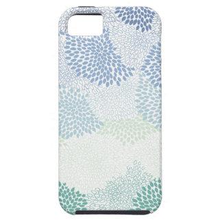 """Flower Burst"" Blue iPhone 5 Cases"