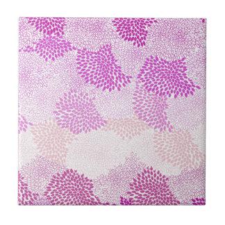 """""""Flower Burst"""" Pink Tile"""