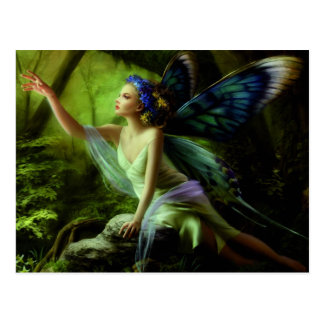 Flower Butterfly Fairy Postcard