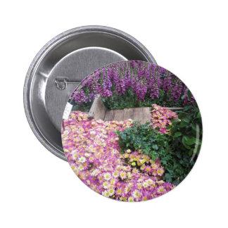 FLOWER Butterfly Garden Vegas Elegant Colorful gif 2 Inch Round Button