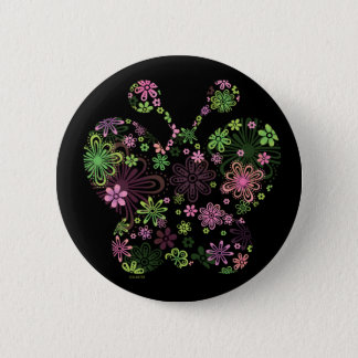 Flower butterfly ICON 2 Inch Round Button