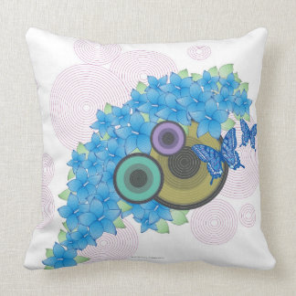 Flower Butterfly Throw Pillow