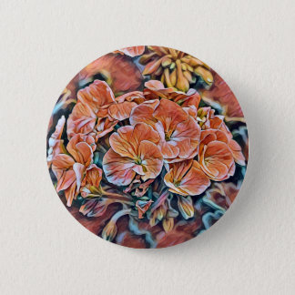 Flower button with orange flower design