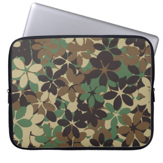 Flower camouflage laptop sleeve
