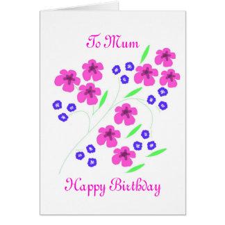 Flower card Mum