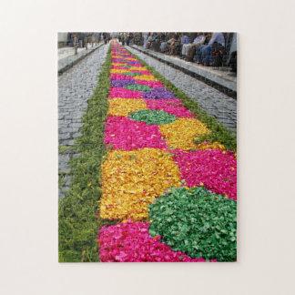 Flower carpet jigsaw puzzle