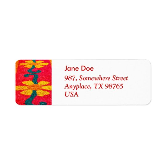 Flower carpet return address label