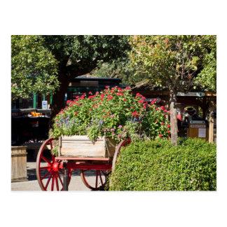 Flower Cart Postcard