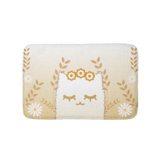 Flower Cat bath mat
