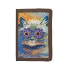 Flower Cat by Louis Wain Tri-fold Wallet