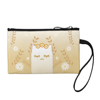 Flower Cat key coin clutch Change Purses