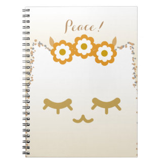Flower Cat note #2 Spiral Notebook
