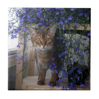 Flower Cat Tile