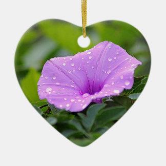 flower ceramic ornament