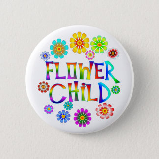 FLOWER CHILD 2 INCH ROUND BUTTON