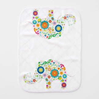 Flower Child Elephant - Burp Cloth