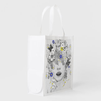 Flower Child Reusable Grocery Bag
