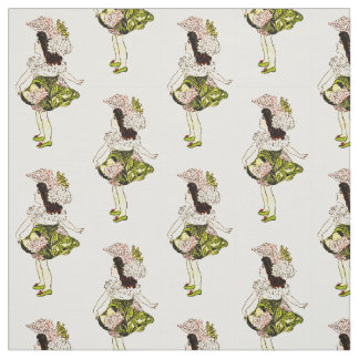 FLOWER CHILD - YARROW FLORAL FAIRY PATTERN FABRIC