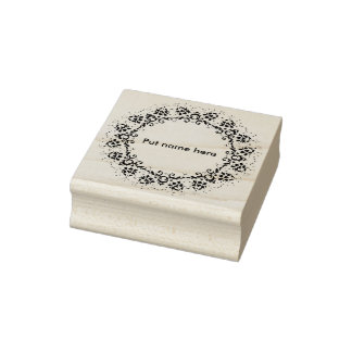 Flower circle 2 silhouette art stamp