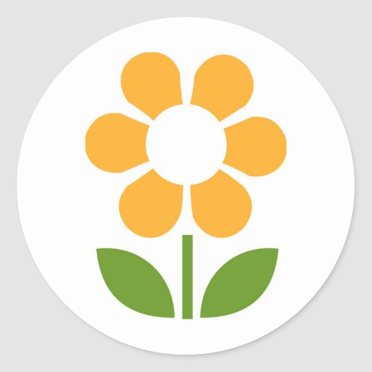 Flower Classic Round Sticker