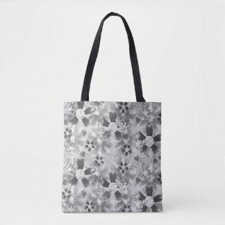 Flower Clown Pattern in Black Tote Bag