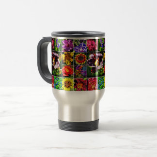 Flower collage 15oz travel Mug