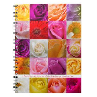 Flower Collage, for teachers - Spiral Notebook