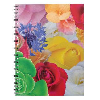 Flower Collage - Spiral Notebook