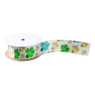 flower,color, colorful + pattern, house satin ribbon