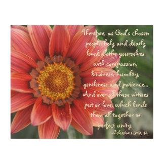 Flower Colossians 3 Wood Wall Art
