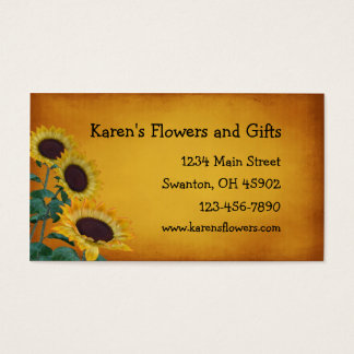 Flower Craft Gift Shop Business Card
