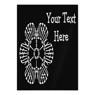 Flower Crochet Chart Pattern (Black & White) Magnetic Invitations