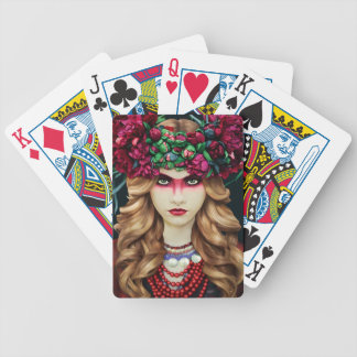 Flower Crown Bicycle Playing Cards