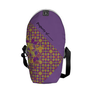 Flower Cubed Courier Bag
