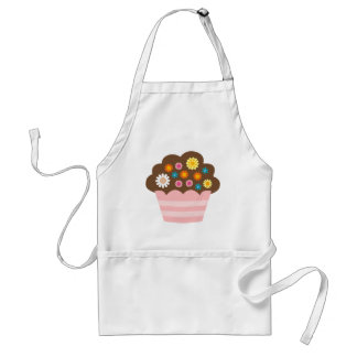flower cupcake 4 standard apron