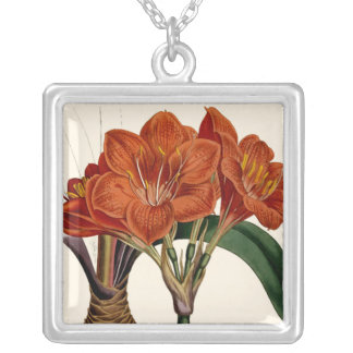Flower Curtis Botanical Tote Silver Plated Necklace